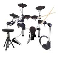 Carlsbro CSD210 Electric Drum Kit + Sticks, Headphones & Stool