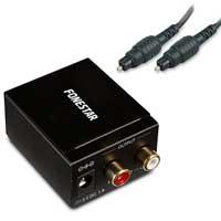 Fonestar FO-37DA Digital Analog Audio Converter with Cable