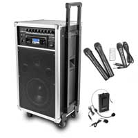 Vonyx ST100 Portable PA System with Wireless Mic & Bodypack Mic