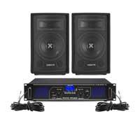 "Vonyx SL8 8"" Passive DJ/PA Speaker Pair & FPL500 Amplifier"