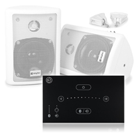 """Skytec 4"""" White Wall Speaker System with Systemline E50 Touch Panel, Pair"""
