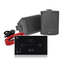 """Adastra BC5-B 5.25"""" Wall Speaker System with Systemline E50 Touch Panel, Pair"""