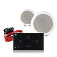 """Fonestar GA-5016 5.25"""" Ceiling Speaker System with Systemline E50 Touch Panel, Pair"""
