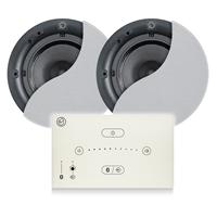 Systemline E50 White Bluetooth Ceiling Speaker System - 2 x QI65CB