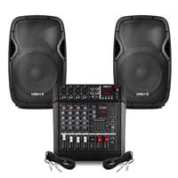 "Vonyx AP1200 12"" Passive DJ/PA Speaker & Mixer"