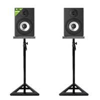 Vonyx SM50 Active Studio Monitors Pair, Stands & Isolation Pads