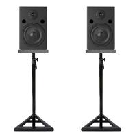 Vonyx SM65 Active Studio Monitors Pair, Stands & Isolation Pads