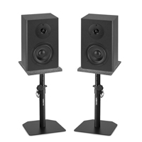 Vonyx SM40 Active Studio Monitors Pair, Monitor Stands & Isolation Pads