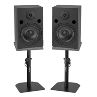 Vonyx SM65 Active Studio Monitors Pair, Monitor Stands & Isolation Pads