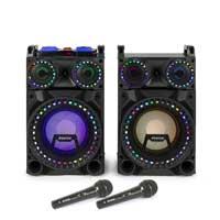 "Fenton VS10 10"" Bluetooth LED Karaoke Speakers with Microphones"