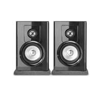 "Vonyx SHF404B 4"" Powered Bluetooth Bookshelf Speakers with Isolation Pads"