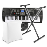 Max KB1 Electric Keyboard with Stand, Soft Case & Scrim