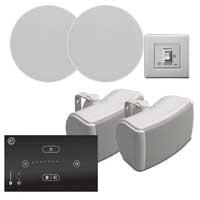 Systemline E50 2-Zone Bluetooth Ceiling Speaker System