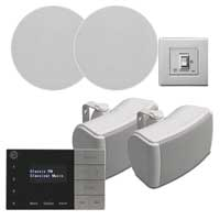 Systemline E100 2-Zone Indoor/Outdoor Bluetooth Home Audio System