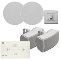 Systemline E50 White 2-Zone Bluetooth Ceiling Speaker System