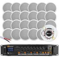 "4-Zone 5"" Ceiling Speaker Bluetooth Installation System Pair4"