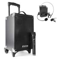 Fenton ST050 Portable Sound System 8 inch with Bluetooth with Wireless Headset
