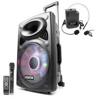 Fenton FPS12 Portable Sound System 12 inch Bluetooth with Wireless Headset