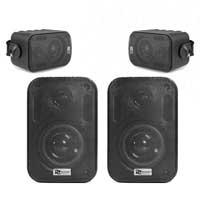 "4x BC30V Black Speakers 100V 8 Ohm 3"" 60W - IPX5"
