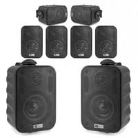 "8x BC30V Black Speakers 100V 8 Ohm 3"" 60W - IPX5"
