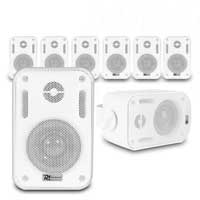 "8x BC30V White Speakers 100V 8 Ohm 3"" 60W - IPX5"