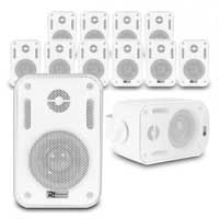 "12x BC30V White Speakers 100V 8 Ohm 3"" 60W - IPX5"