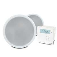 Pair of PD CSP8 8 Inch Ceiling Speakers with Bluetooth Wall Amplifier