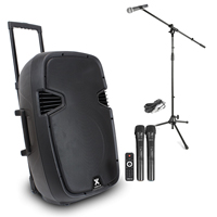 Vonyx SPJ-PA915 15 Inch Active PA Speaker with Microphone Set