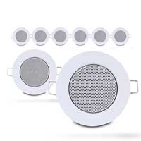 Set of 8x Fonestar GA-2542 Inch Ceiling LoudSpeakers with Grille