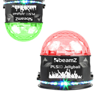 BeamZ PLS10 LED Disco Jellyball Light with Bluetooth Speaker, Pair