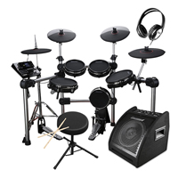 Carlsbro CSD600 Electronic Drum Kit with Stool, Headphones & Monitor