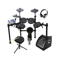 Carlsbro CSD400 Electronic Drum Kit with Stool, Headphones & Monitor