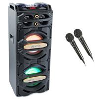 """Fenton LIVE2101 Dual 10"""" Karaoke Speakers & Microphones"""