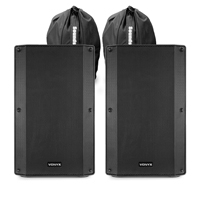 "Vonyx VSA150S 15"" Active PA Speakers Pair with Bags"