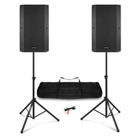 "Vonyx VSA120S 12"" Active Speakers with Speaker Stands"