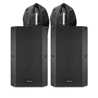 "Vonyx VSA120S 12"" Active PA Speakers Set with Bags"