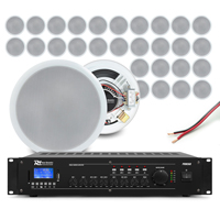 Power Dynamics Background Music System, 30 Ceiling Speakers & Amplifier