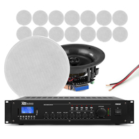Power Dynamics Background Music System, 16 Ceiling Speakers & Amplifier