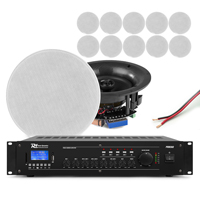 Power Dynamics Background Music System, 12 Ceiling Speakers & Amplifier