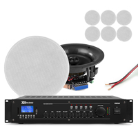 Power Dynamics Background Music System, 8 Ceiling Speakers & Amplifier