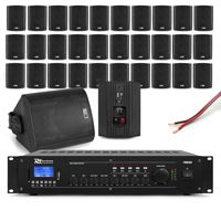 PD Background Music System, 32 Speakers & Amplifier