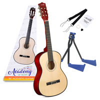 AoM TY5905 Classic Acoustic Guitar with Straps & Floor Stand