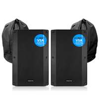 Vonyx VSA12 Active PA Speakers Pair with Bags