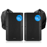 Vonyx VSA12BT Active PA Speakers Pair with Bags
