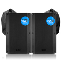 Vonyx VSA15BT Active PA Speakers Pair with Bags