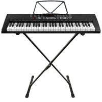 Electric Keyboard for Beginners with Stand & 61 Keys - Max KB4