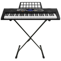 Max KB3 Electronic Keyboard, 61-Keys with Stand