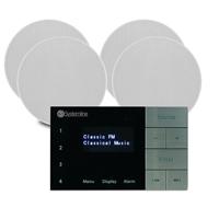 Systemline E100 Bluetooth White Ceiling Speaker, Set of 4 & Amplifier System