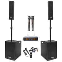 Vonyx VX1050 2.2 Active Karaoke PA Speaker System with Stands & 2 Microphones