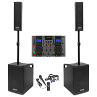 Vonyx VX1050 2.2 Active PA Speaker System with CD Mixer, Stands & Microphone